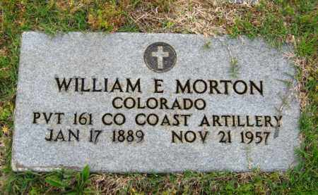 MORTON  (VETERAN), WILLIAM E. - Cleburne County, Arkansas | WILLIAM E. MORTON  (VETERAN) - Arkansas Gravestone Photos
