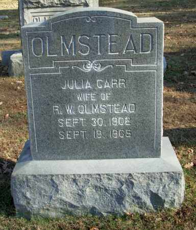 CARR OLMSTEAD, JULIA - Cleburne County, Arkansas | JULIA CARR OLMSTEAD - Arkansas Gravestone Photos