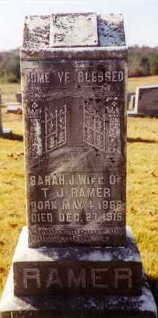 STARNES RAMER, SARAH J - Cleburne County, Arkansas   SARAH J STARNES RAMER - Arkansas Gravestone Photos