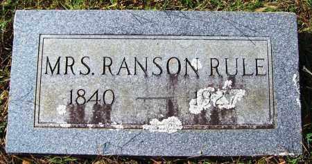 RULE, MRS RANSON - Cleburne County, Arkansas | MRS RANSON RULE - Arkansas Gravestone Photos