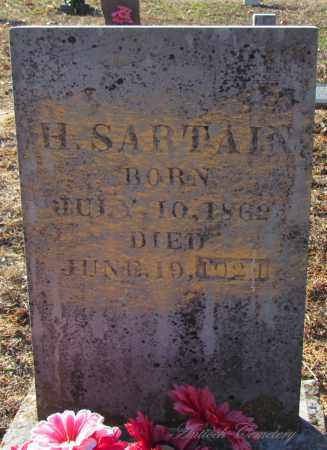 SARTAIN, H - Cleburne County, Arkansas   H SARTAIN - Arkansas Gravestone Photos