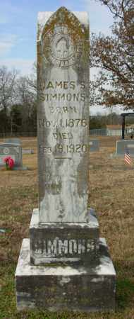 SIMMONS, JAMES S. - Cleburne County, Arkansas | JAMES S. SIMMONS - Arkansas Gravestone Photos