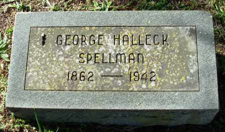 SPELLMAN, GEORGE HALLECK - Cleburne County, Arkansas | GEORGE HALLECK SPELLMAN - Arkansas Gravestone Photos