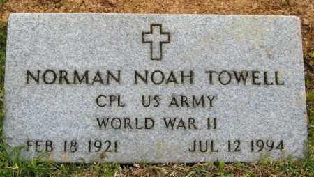 TOWELL (VETERAN WWII), NORMAN NOAH - Cleburne County, Arkansas   NORMAN NOAH TOWELL (VETERAN WWII) - Arkansas Gravestone Photos