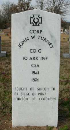 TURNEY (VETERAN CSA), JOHN W. - Cleburne County, Arkansas | JOHN W. TURNEY (VETERAN CSA) - Arkansas Gravestone Photos