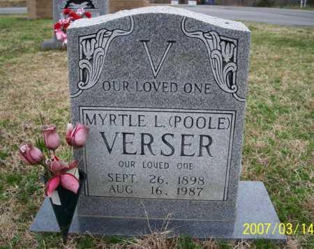 POOLE VERSER, MYRTLE L. - Cleburne County, Arkansas | MYRTLE L. POOLE VERSER - Arkansas Gravestone Photos