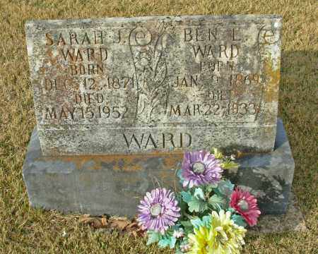 WARD, SARAH J. - Cleburne County, Arkansas   SARAH J. WARD - Arkansas Gravestone Photos