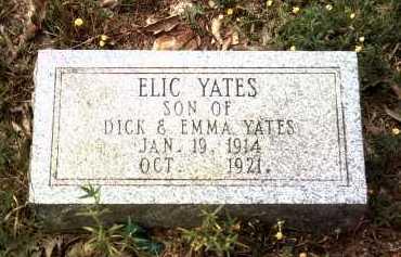 YATES, ELIC - Cleburne County, Arkansas | ELIC YATES - Arkansas Gravestone Photos