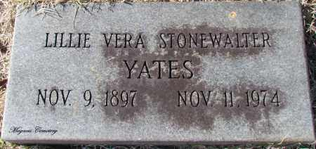YATES, LILLIE VERA - Cleburne County, Arkansas | LILLIE VERA YATES - Arkansas Gravestone Photos