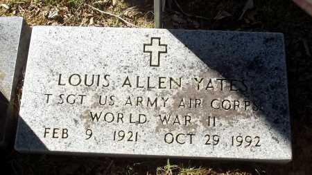 YATES (VETERAN WWII), LOUIS ALLEN - Cleburne County, Arkansas | LOUIS ALLEN YATES (VETERAN WWII) - Arkansas Gravestone Photos