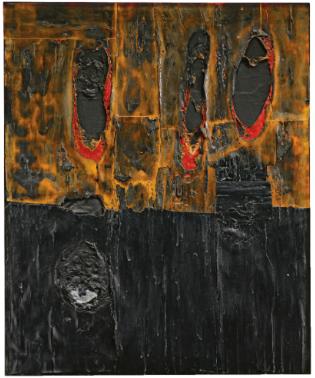 » Alberto Burri's Combustione Legno 1957 - AO Art Observed™