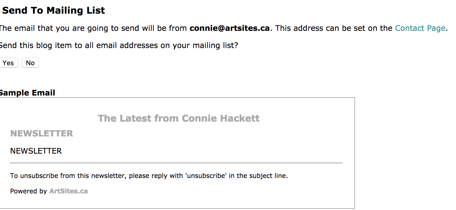 Sending Post