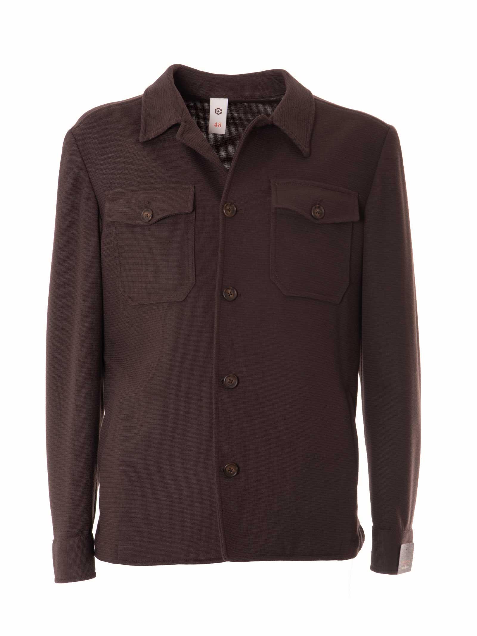 giacca/camicia in maglia GABARDINE | GABCAMYMARRONE