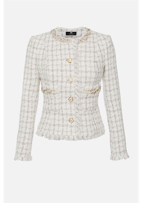 Mini Giacca in tweed con perle Elisabetta Franchi ELISABETTA FRANCHI | 3 | GI97616E2360