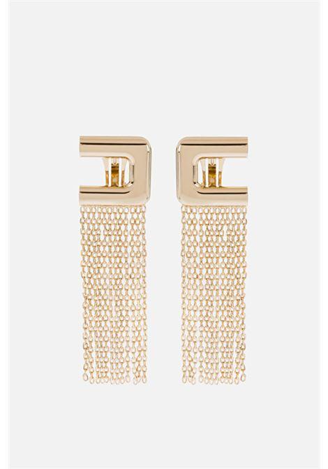 Earrings with logo and a cascade Elisabetta Franchi ELISABETTA FRANCHI | 48 | OR02A11E2604