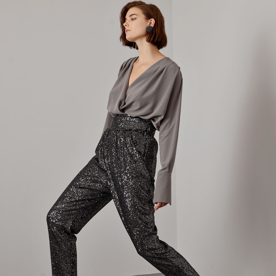 blusa incrociata con polsini ACCESS fashion | W1-2028124