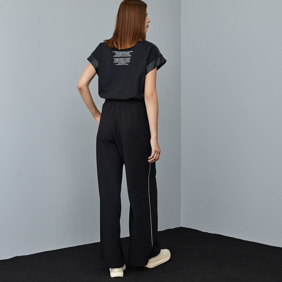 panatalone a gamba larga con dettaglio piping ACCESS fashion | W1-5094321