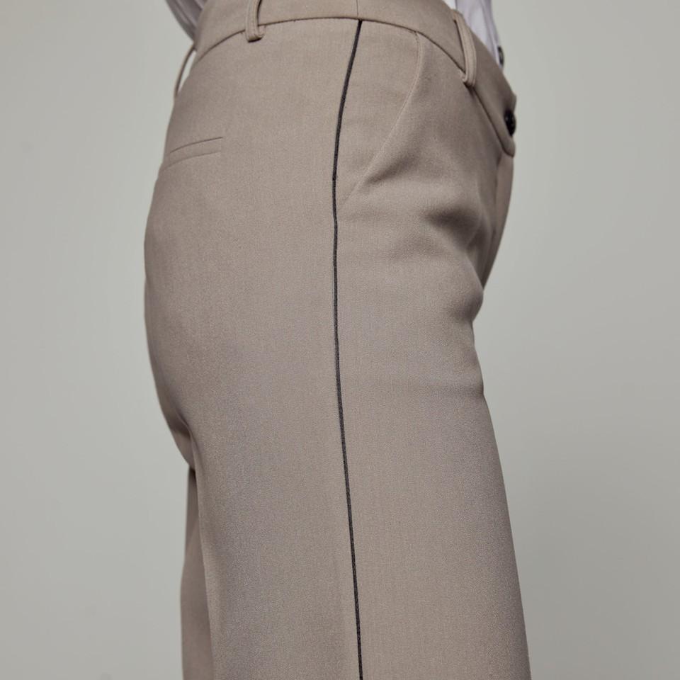 Pantaloni a vita alta con piping ACCESS fashion   W1-5138379