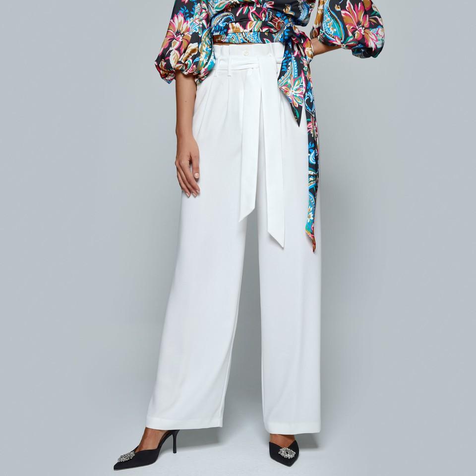 pantaloni a vita alta a gamba larga ACCESS fashion | W1-5141123