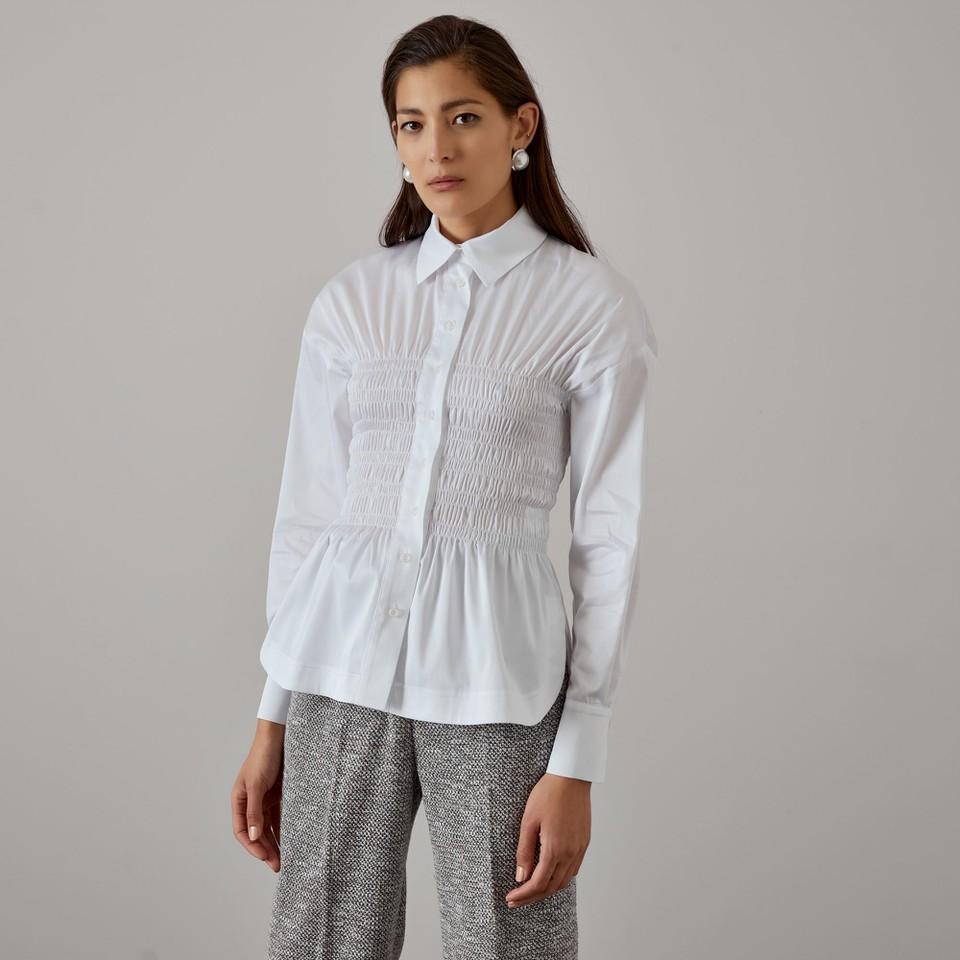camicia con dettaglio arricciati ACCESS fashion   W1-7003118