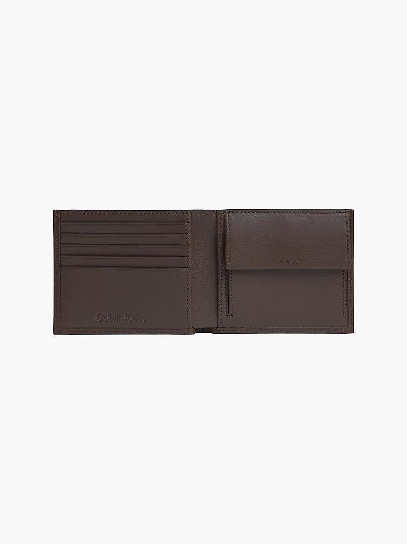 Portafoglio con portamaonete CALVIN KLEIN   K50K507379DARK BROWN