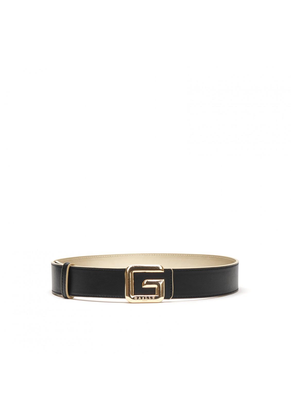 Cintura reversibile con fibbia G GAELLE paris   GBDA2687NERO ORO
