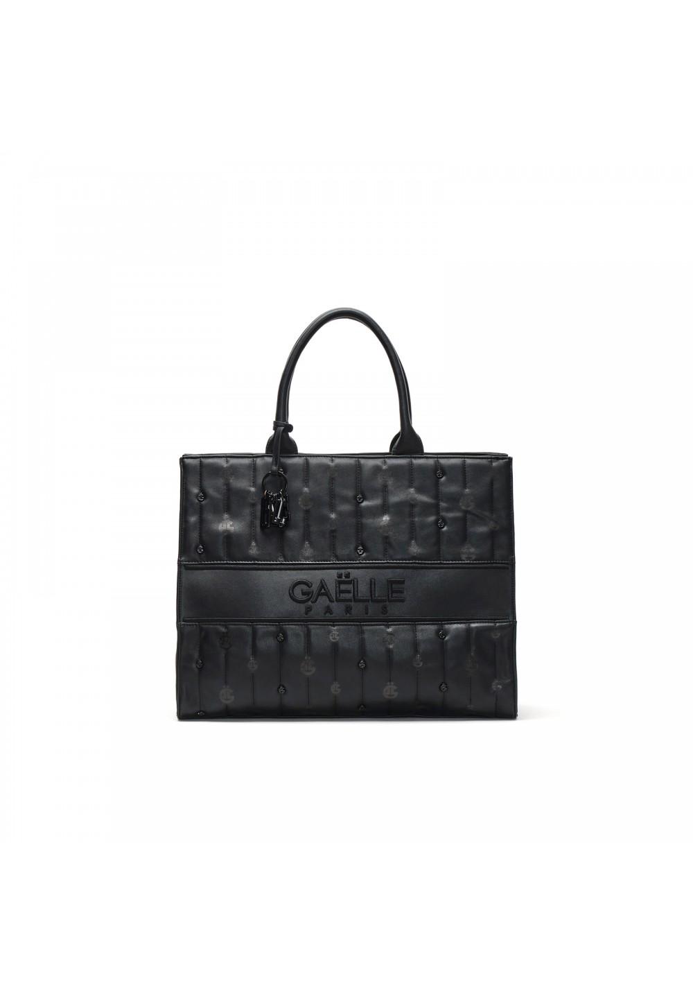 Maxi shopper con m icro logo GAELLE paris   GBDA2737NERO
