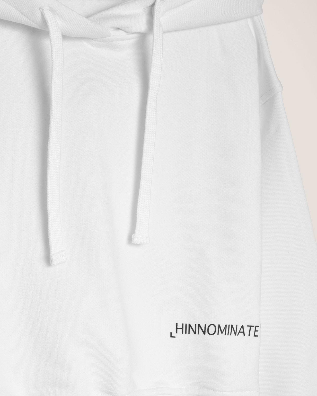 felpa corta con cappuccio HINNOMINATE   HNWSFC007OFF WHITE