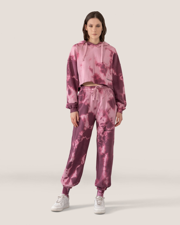 pantalone in felpa stamoa tiedye HINNOMINATE   HNWSP58TIEDYE ROSA