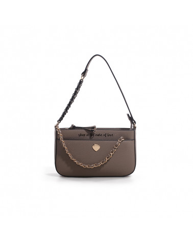 luna mini bag shop LE PANDORINE   LUNA MINI SHOPTAUPE
