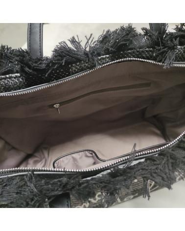 borsa shopper paloma in lana LE PANDORINE   PALOMA BAG FREDDOCHECK GREY