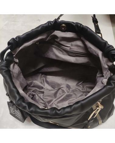 vicky bucket in eco fur LE PANDORINE   VICKY BUCKET MONTAGNABLACK