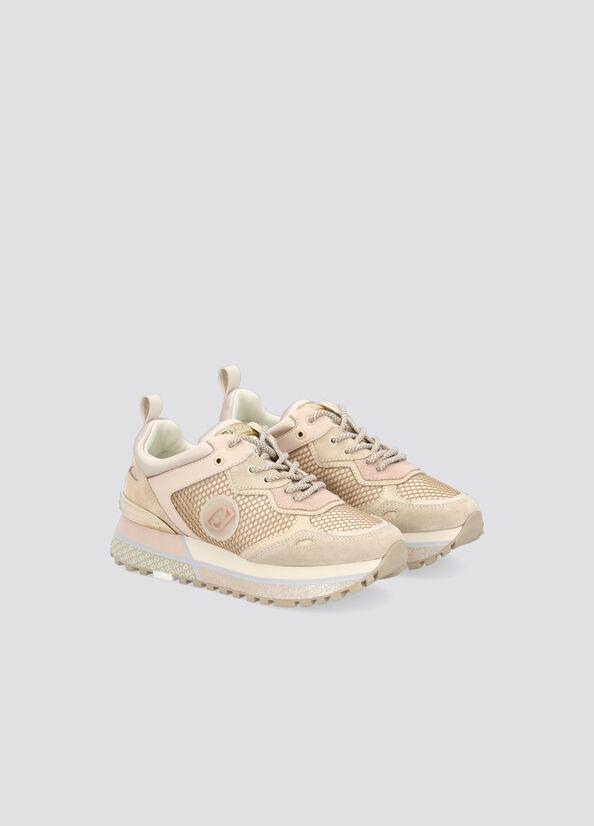 sneakers in mesh e raso LIU.JO | BF1071 TX101MILK