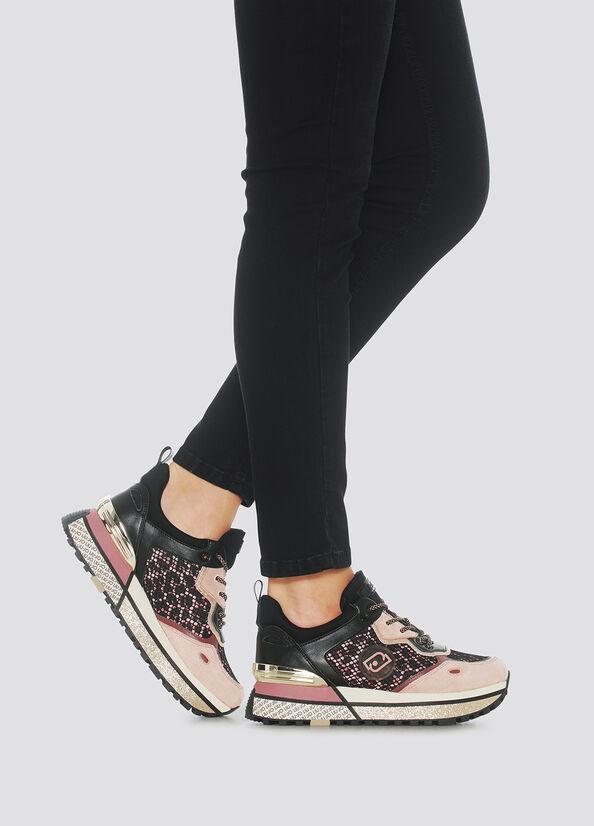 sneakers in mesh e raso stampato LIU.JO | BF1071TX203ANIMALIER