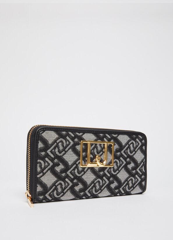 Portafoglio grande con logo jacquard LIU.JO | NF1193T6438S9354