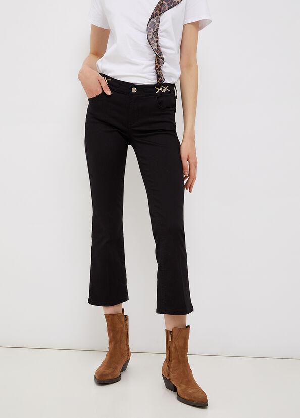 Pantalone cropped con dettagli logati LIU.JO | WF1226T714422222