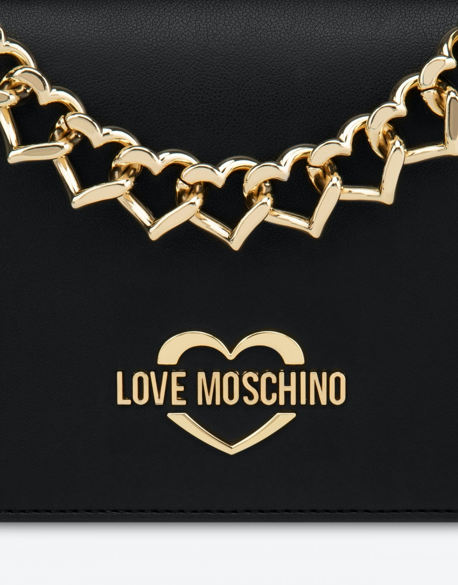Borsa a tracolla Chain Heart LOVE MOSCHINO | JC4196PP0DLK0000