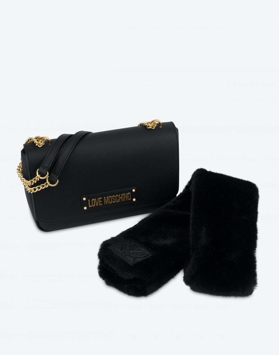 borsa a spalla furry scarf lOVE MOSCHINO | JC4304PP0DKN0000