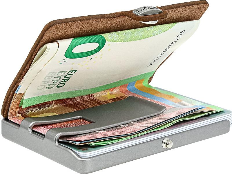 Porta carte di credito Pure Cuoio I CLIP   13404NUTSHELL