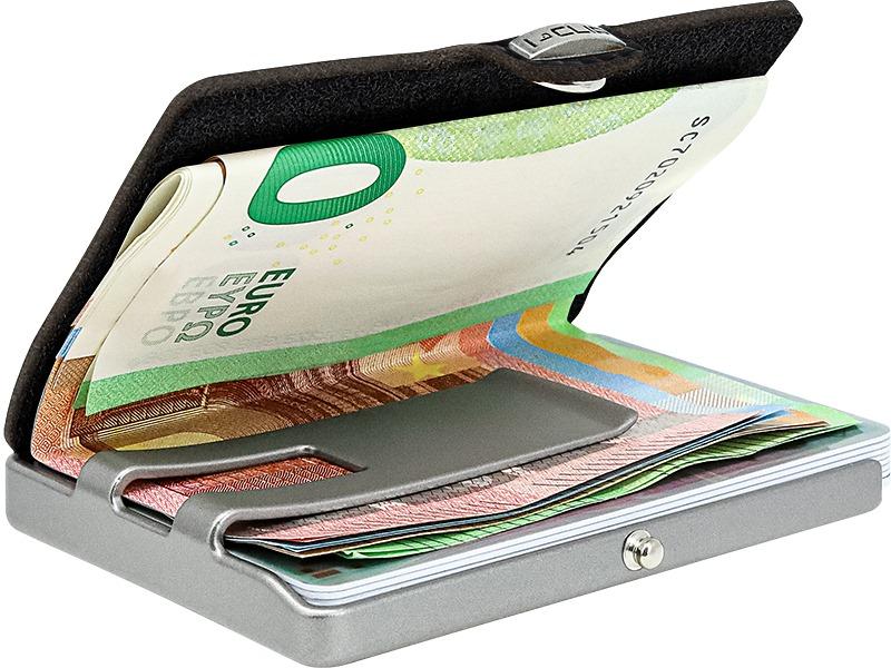 Porta carte  di credito Pure nero I CLIP | 14111NERO