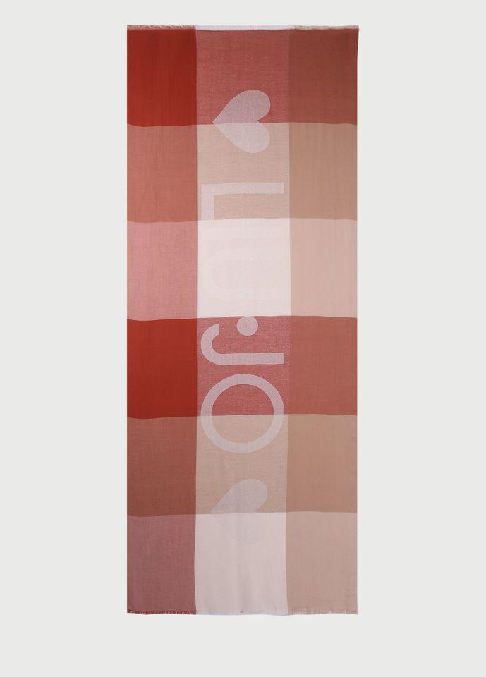 stola check logo lurex LIU.JO | 2A1027 T030091250