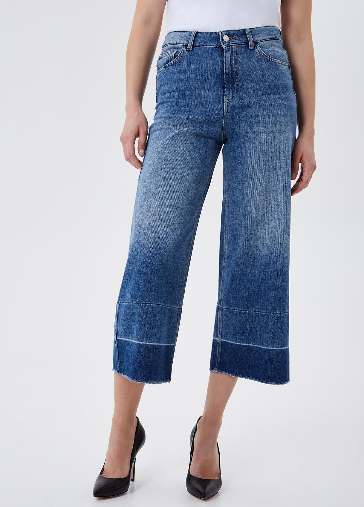 Jeans cropped a vita alta LIU.JO | UA1100 D462478154