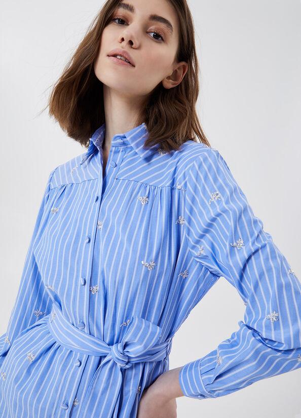 Vestito con ricami gioiello azzurro LIU.JO | WA1312 T4826T9636