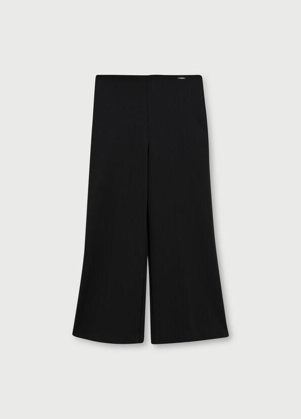 Pantalone cropped ampio nero LIU.JO   WA1388 J403422222
