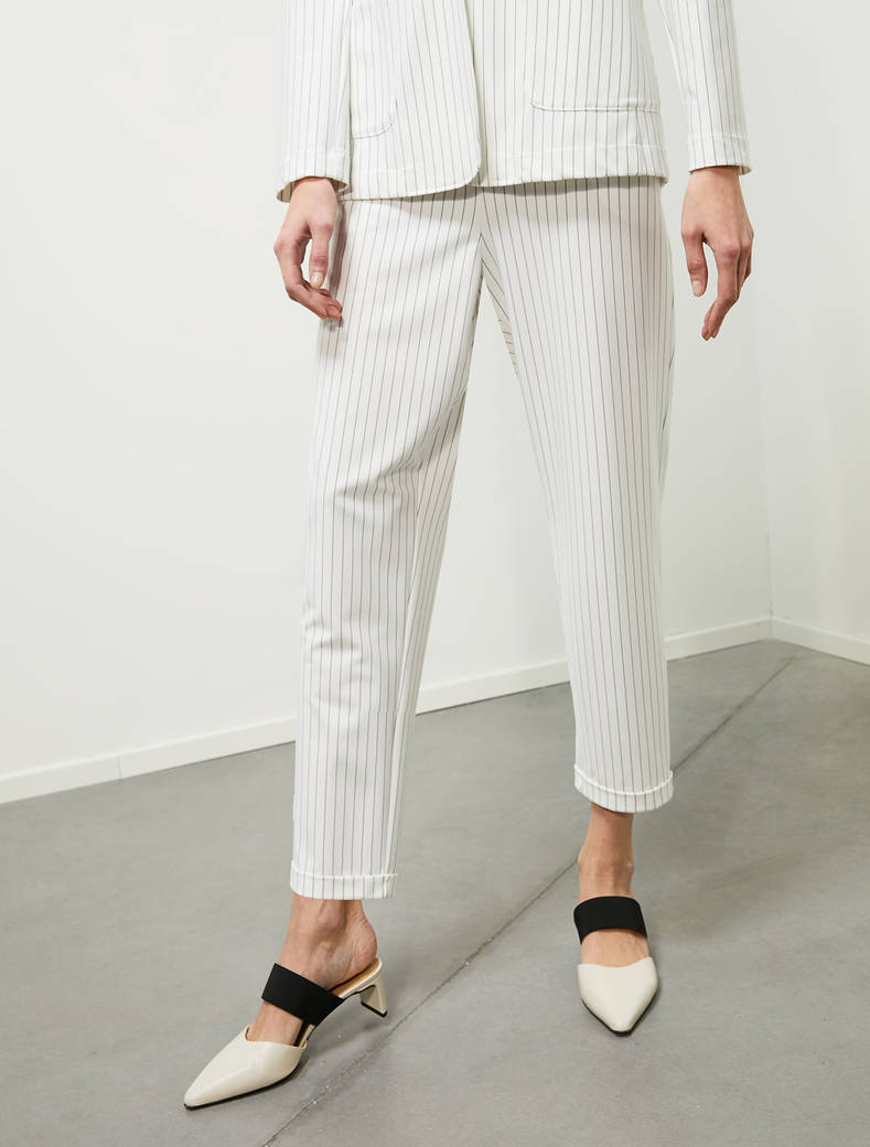 Pantaloni in jersey gessato DOTFUR PENNYBLACK | DOTFUR001