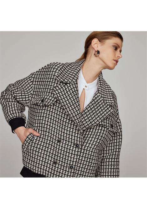 tweed bomber jacket ACCESS fashion | W1-1029543