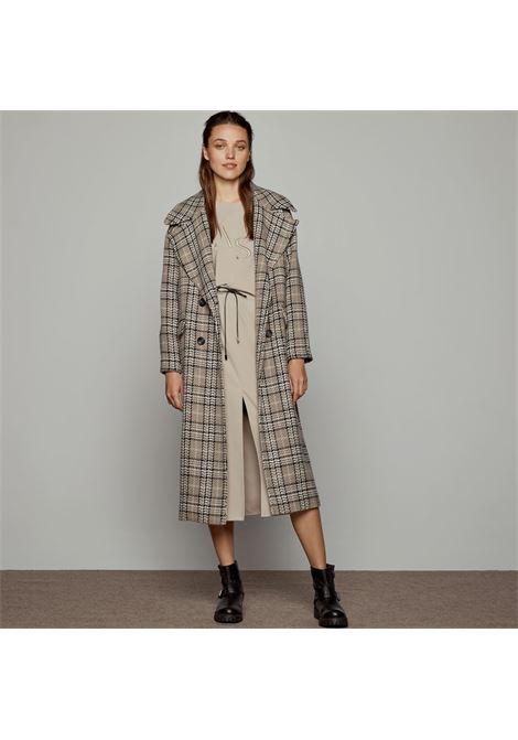 cappotto lungo a quadri ACCESS fashion | W1-9039825