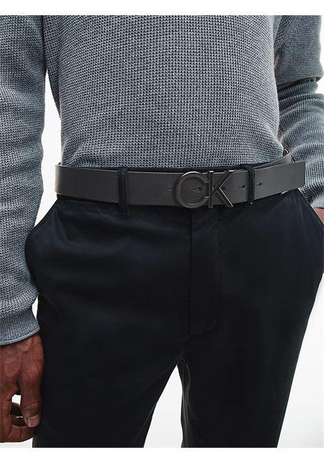 Cintura in pelle con logo CALVIN KLEIN | K50K507075NERO