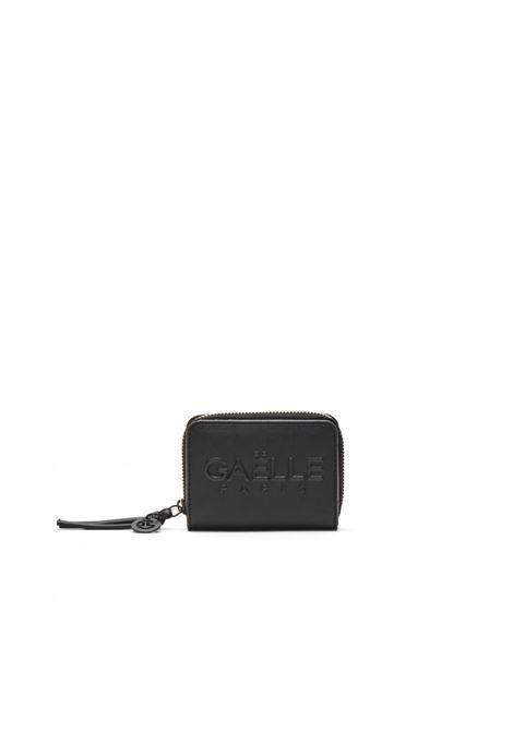 Portafoglio piccolo con logo tono su tono GAELLE paris | GBDA2664NERO