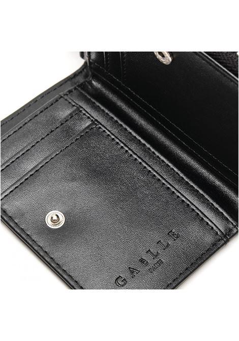 Portafoglio piccolo con logo tono su tono GAELLE paris   GBDA2664NERO